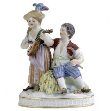 Meissen Porcelain Figurine - Girl & Boy Autumn
